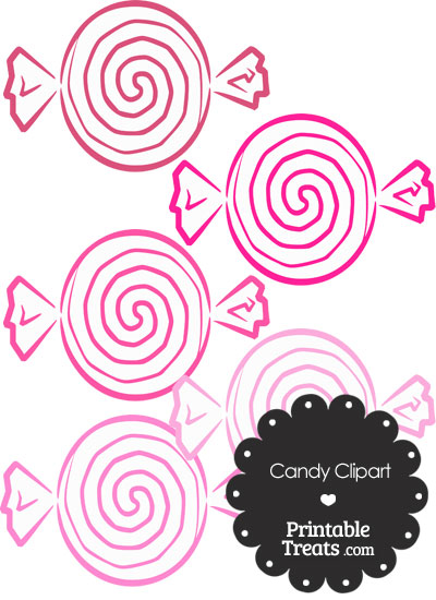Pink Candy Clipart from PrintableTreats.com