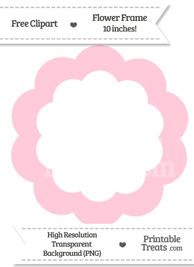 Pink Flower Frame Clipart from PrintableTreats.com