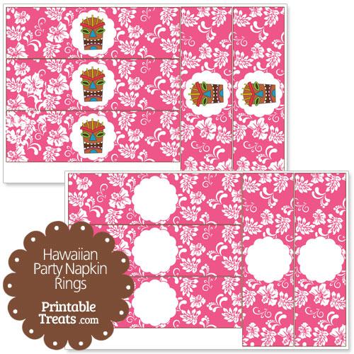 pink Hawaiian party napkin rings