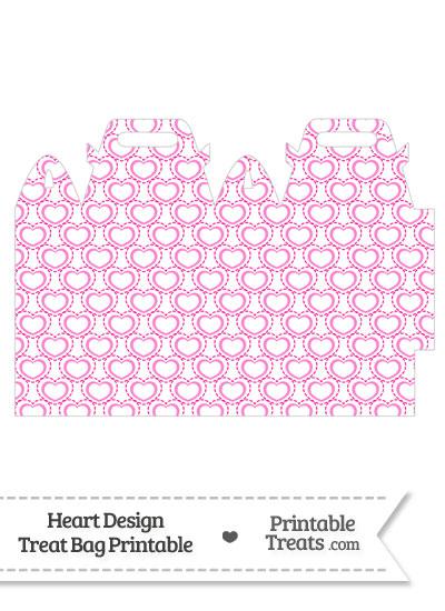 Pink Heart Design Treat Bag from PrintableTreats.com