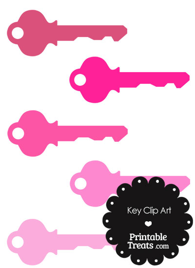 Pink Key Clipart from PrintableTreats.com