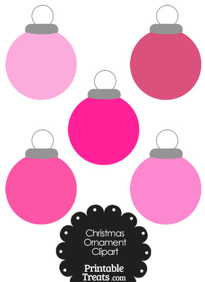 Pink Round Ornament Clipart from PrintableTreats.com