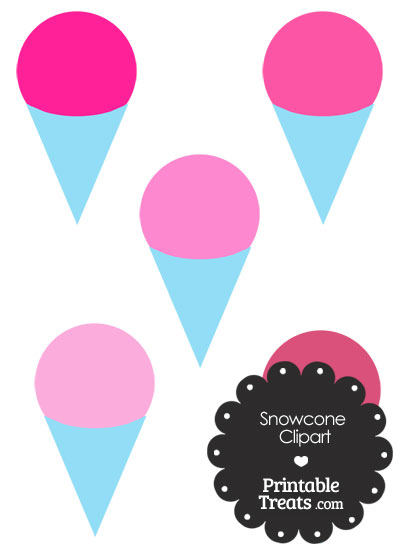 Pink Snow Cone Clipart from PrintableTreats.com