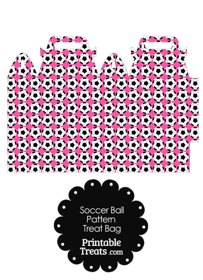 Pink Soccer Ball Pattern Treat Bag from PrintableTreats.com
