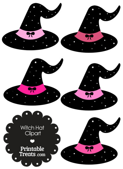 Pink Witch Hat Clipart from PrintableTreats.com