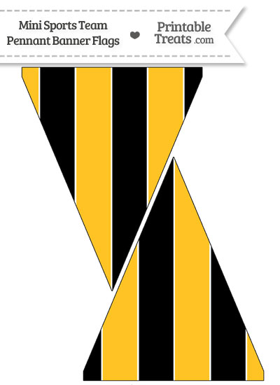 Pirates Colors Mini Pennant Banner Flags from PrintableTreats.com
