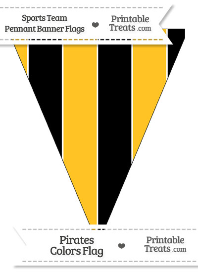 Pirates Colors Pennant Banner Flag from PrintableTreats.com
