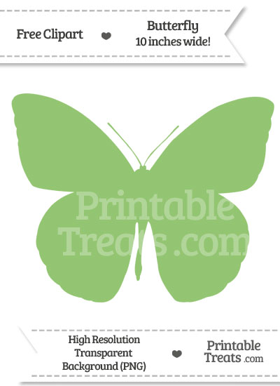 Pistachio Green Butterfly Clipart from PrintableTreats.com