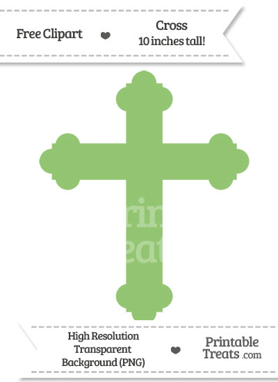 Pistachio Green Cross Clipart from PrintableTreats.com