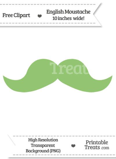 Pistachio Green English Mustache Clipart from PrintableTreats.com
