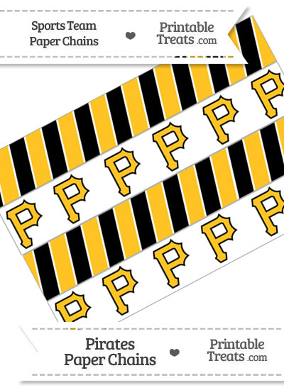 Pittsburgh Pirates Paper Chains from PrintableTreats.com