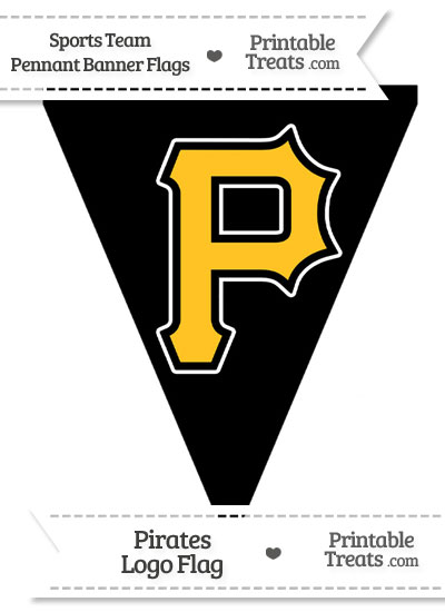 Pittsburgh Pirates Pennant Banner Flag from PrintableTreats.com