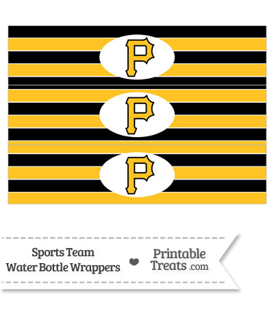Pittsburgh Pirates Water Bottle Wrappers from PrintableTreats.com