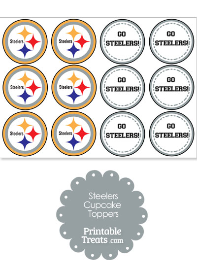 Pittsburgh Steelers Cupcake Toppers from PrintableTreats.com