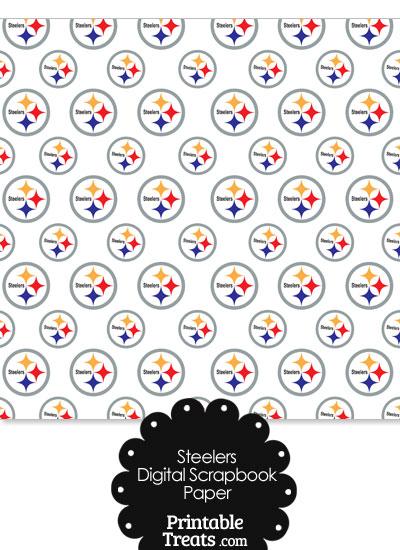 Pittsburgh Steelers Logo Digital Paper from PrintableTreats.com