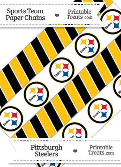 Pittsburgh Steelers Paper Chains from PrintableTreats.com