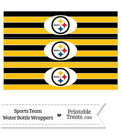 Pittsburgh Steelers Water Bottle Wrappers from PrintableTreats.com