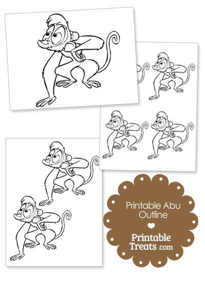 Printable Abu Outline from PrintableTreats.com