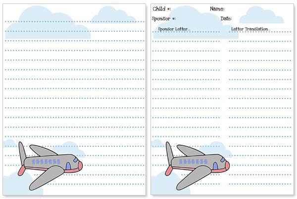 printable airplane stationery