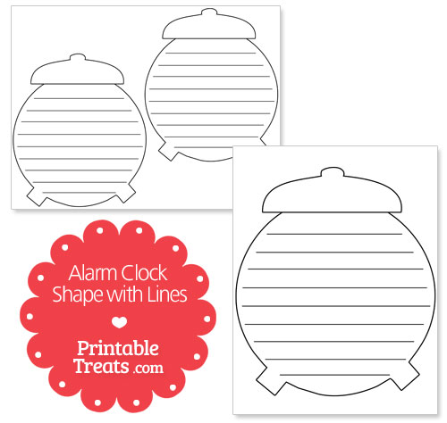 printable alarm clock with lines
