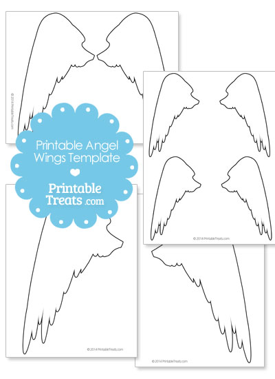 Printable Angel Wings Outline from PrintableTreats.com
