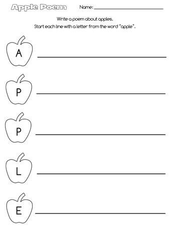 printable apple acrostic poem