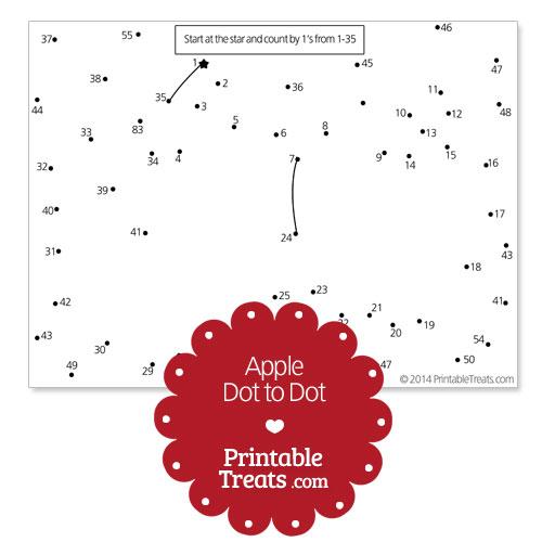 free printable apple dot to dot