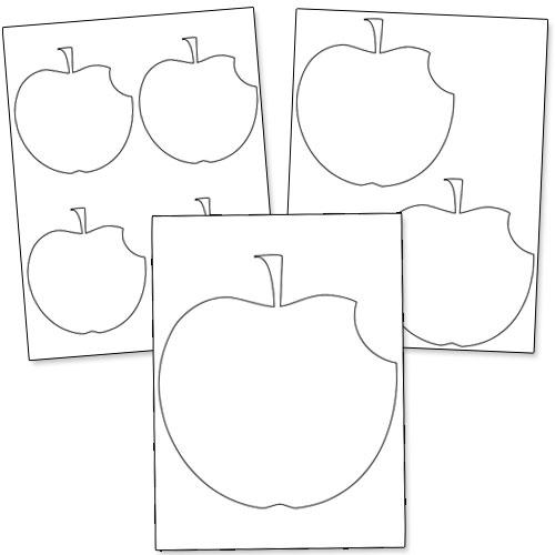 printable apple shapes