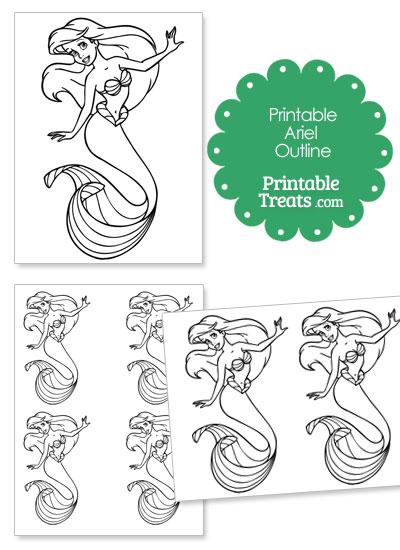Printable Ariel Outline from PrintableTreats.com