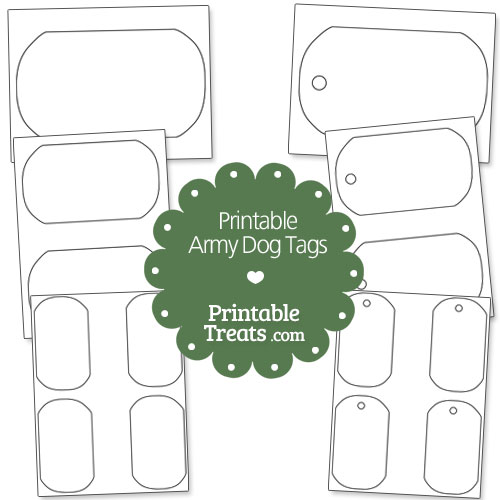 printable army dog tags