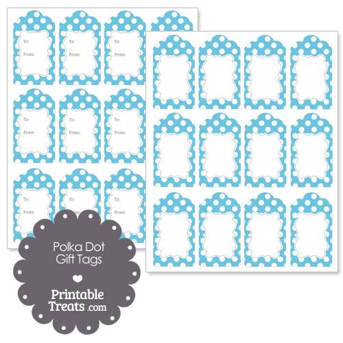 printable baby blue polka dot gift tags