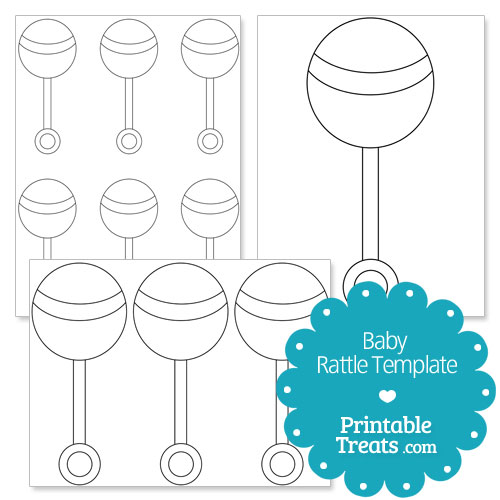 printable baby rattle template
