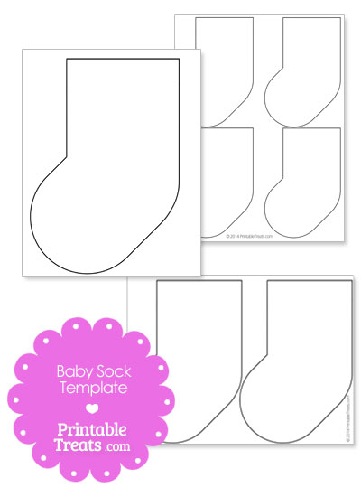 Printable Baby Sock Template from PrintableTreats.com