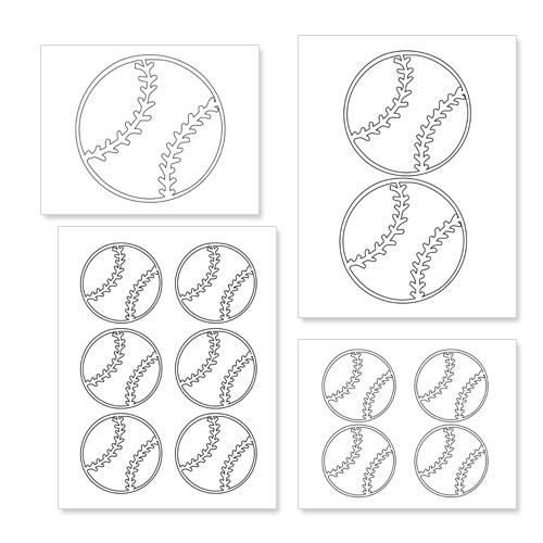 printable baseball shapes