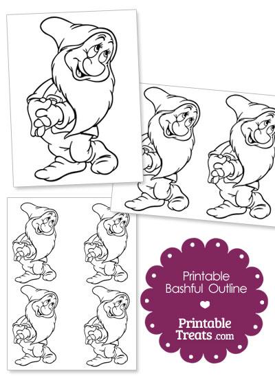 Printable Bashful Outline from PrintableTreats.com