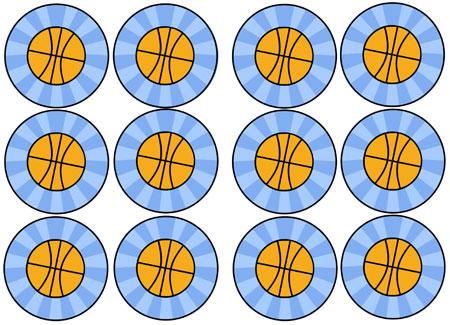 printable basketball cupcake toppers