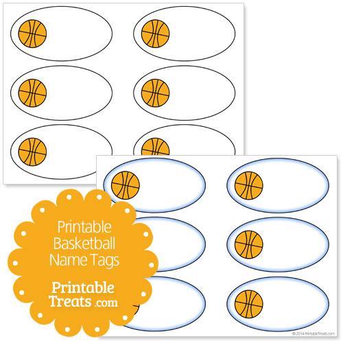 printable basketball name tags