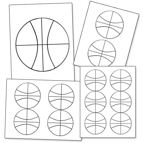 printable basketball shape