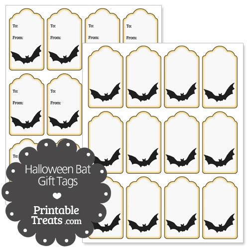 printable bat gift tags