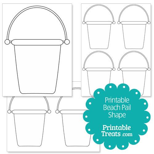 printable beach pail shape template