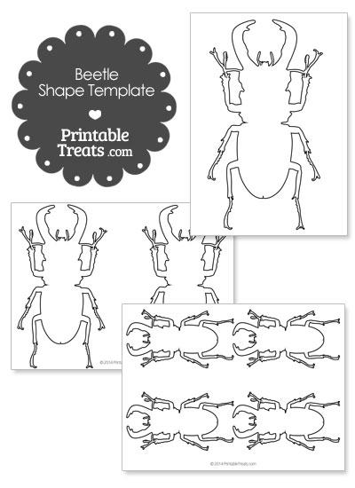Printable Beetle Shape Template from PrintableTreats.com