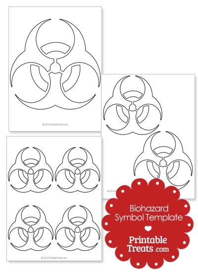 Printable Biohazard Symbol Template from PrintableTreats.com