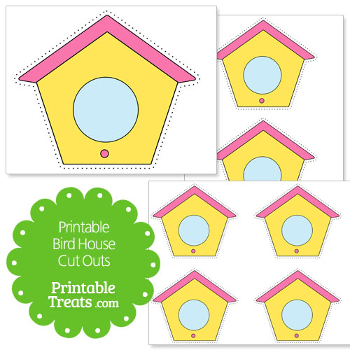 printable bird house cut outs