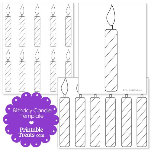 printable birthday candle shape template