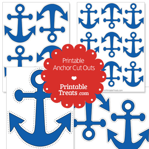 printable blue anchor cut outs