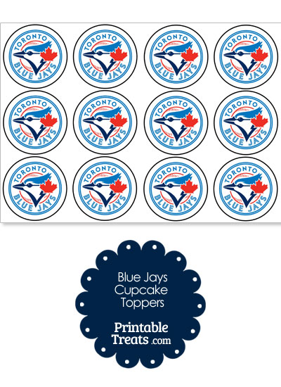 Printable Blue Jays Logo Cupcake Toppers from PrintableTreats.com