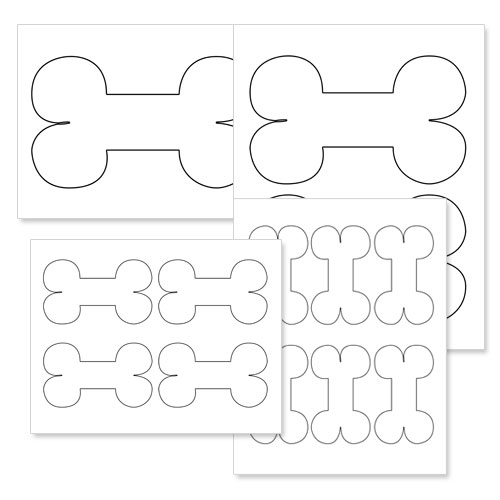 printable bone shapes