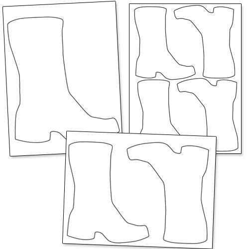 printable boot template
