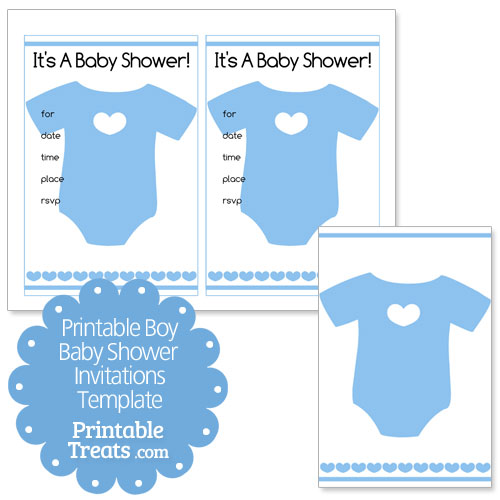 Baby Shower Invitation Blank Templates Boy | Infoinvitation.co