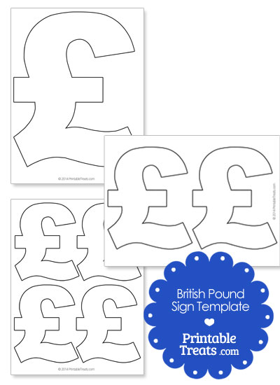 Printable British Pound Sign from PrintableTreats.com